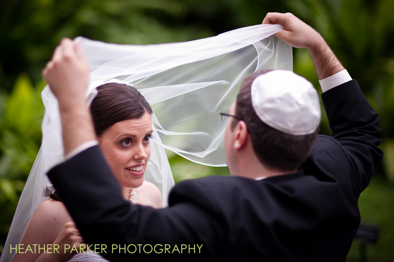 chicago wedding photographer at Garfield Park Conservatory for a jewish ceremony