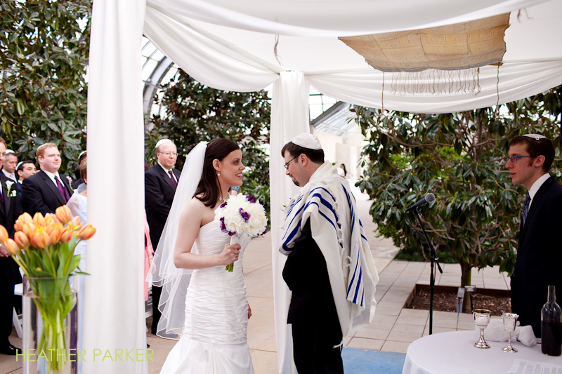 garfield park conservatory wedding photos of indoor ceremony in horticultural hall