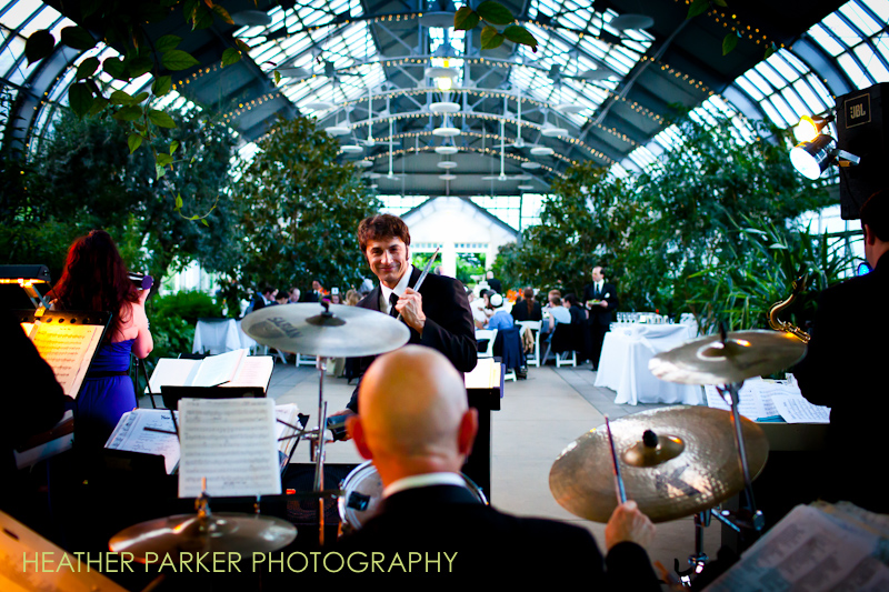 jeff sandler orchestra at garfield park conservatory wedding