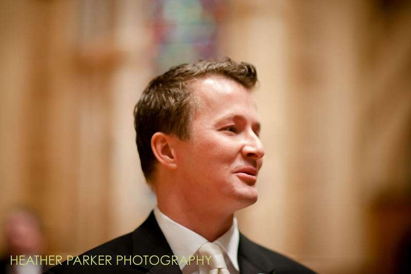 groom in natural light at a wedding ceremony
