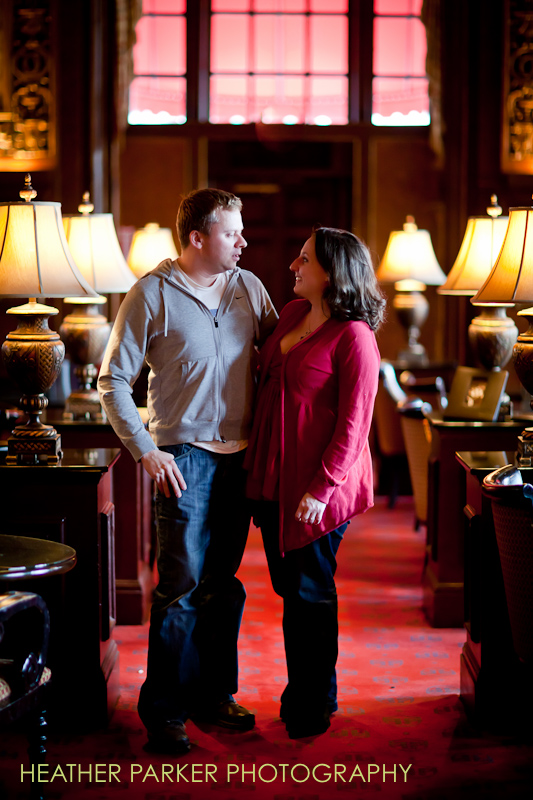 Boston wedding photographer Oak Room Fairmont Copley Plaza engagement shoot