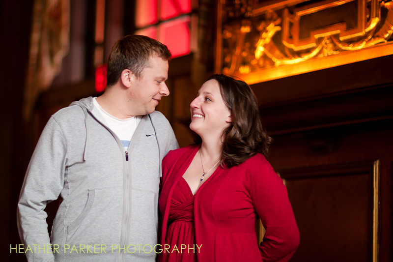 Boston wedding photographer Fairmont Hotel engagement at Oak Room