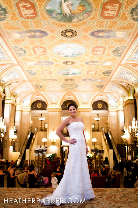 Palmer House Hilton Heather Parker chicago wedding photographer