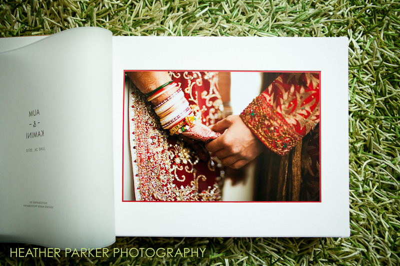 Indian wedding album by Boston photographer Heather Parker