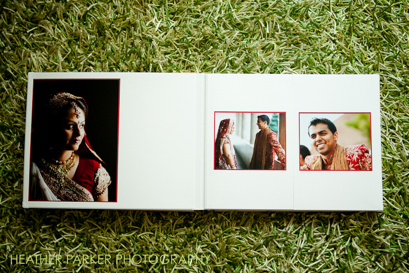 Chicago indian wedding photography in an album
