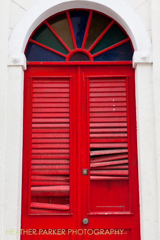 red doors in old san juan puertorico