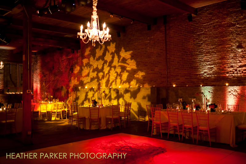 wedding uplighting and monogram gobo lighting