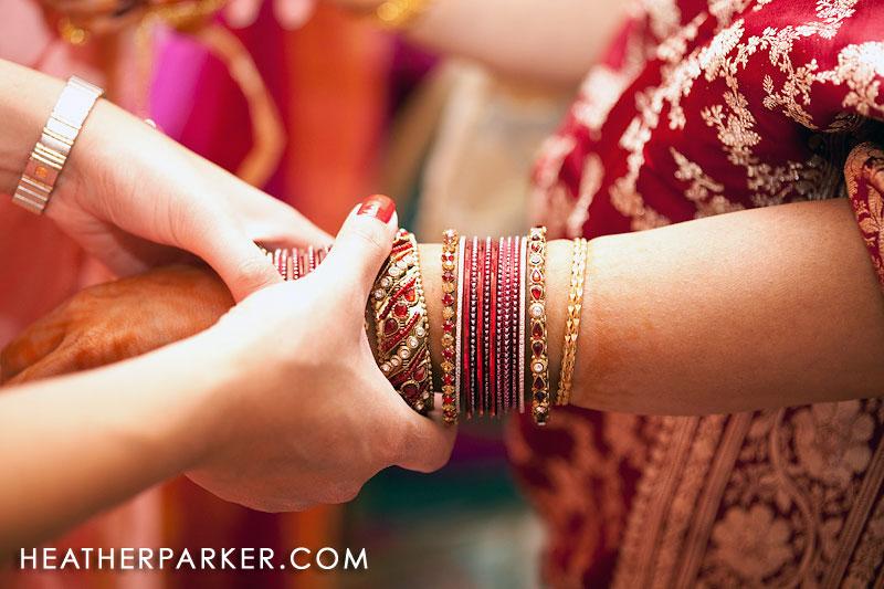 bracelets bangles at wedding