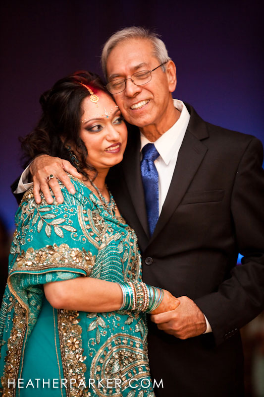father daughter dance at indian wedding reception