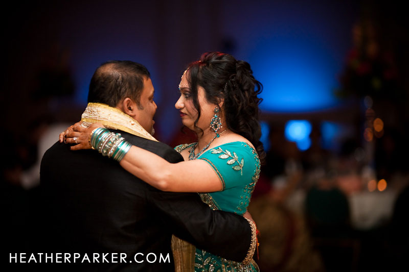 first dance at indian wedding reception