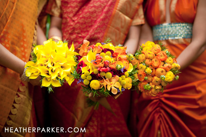 indian wedding photographer shares bridal wedding bouquet flowers
