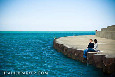 Lake Michigan Wedding Locations on Lake Michigan Engagement Shoot In Chicago
