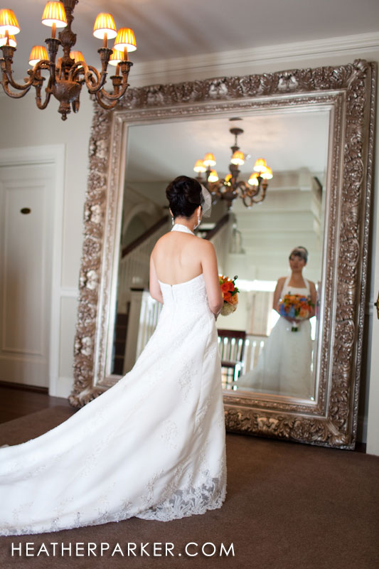 elegant wedding mirror at a mansion