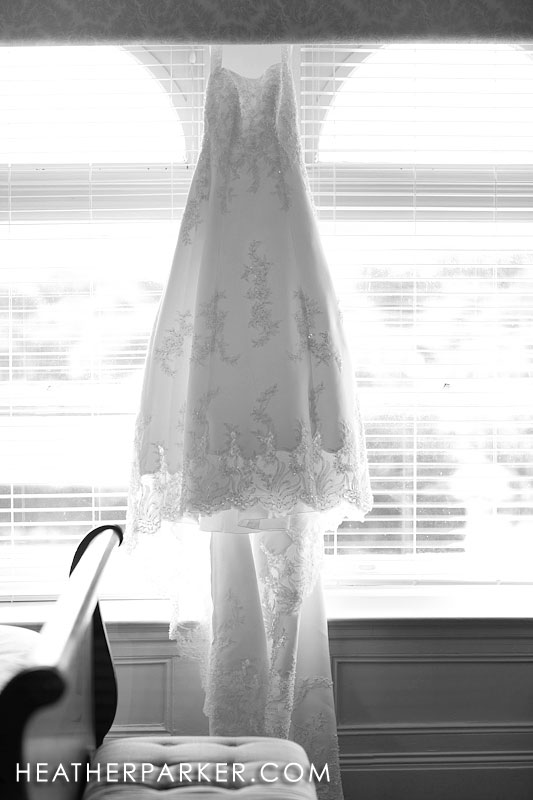 wedding gown at the oceancliff resort in rhode island