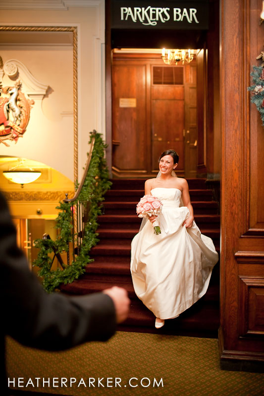 first look bride wedding
