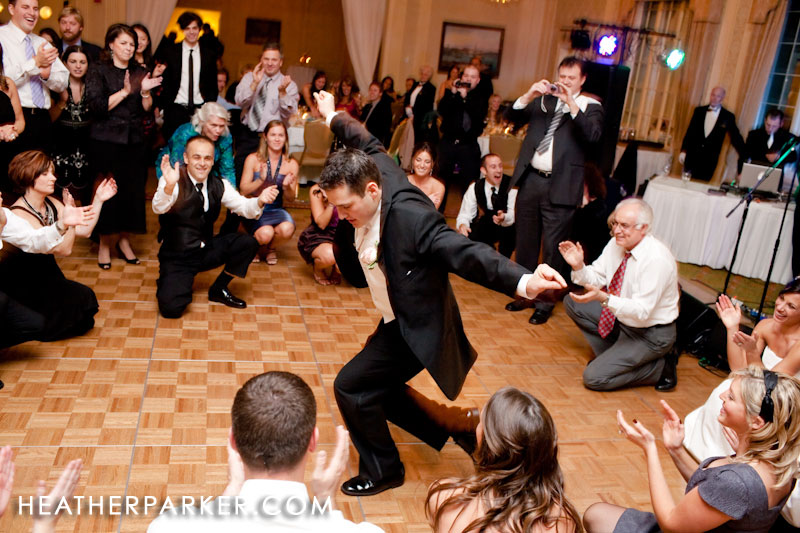 wedding traditions including greek dancing