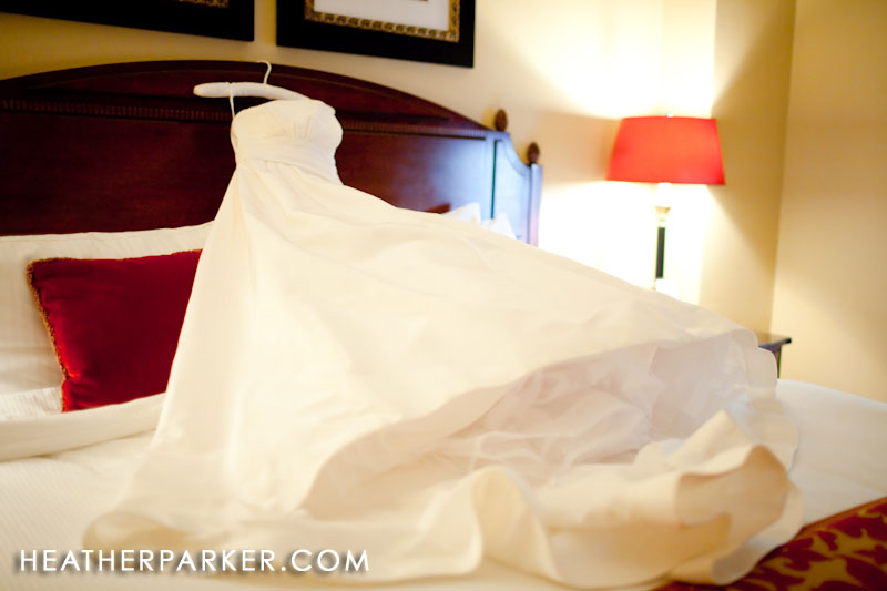 omni hotel bridal suite with wedding gown