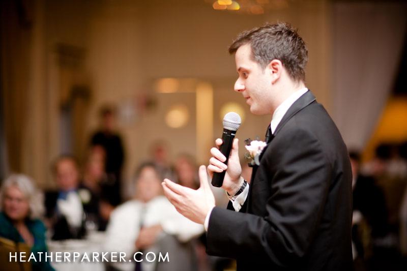 wedding candid in boston at the omni