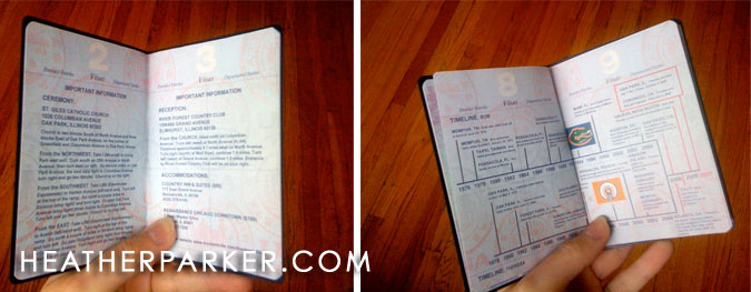 Chicago wedding photography passports