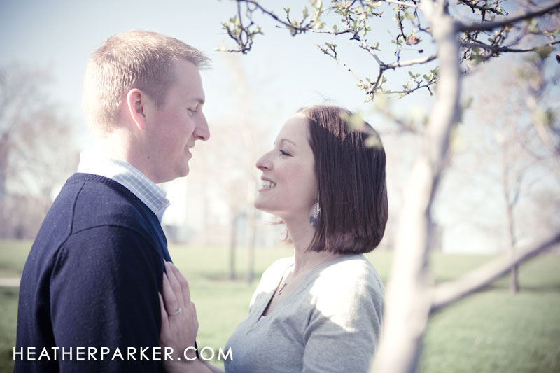cherry blossoms in the spring is a nice place for engagement photography