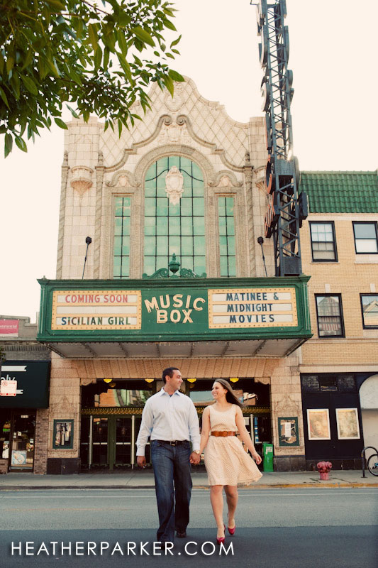 theater engagement session